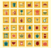 Vector kitchen and food icons Royalty Free Stock Image