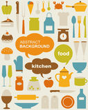 Vector kitchen Icons Stock Images