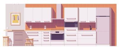 Vector kitchen illustration Stock Photos