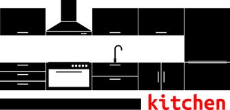 Vector - kitchen Royalty Free Stock Images
