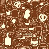 Vector kitchen seamless pattern Royalty Free Stock Photography
