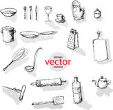 Vector kitchen utensils Royalty Free Stock Images