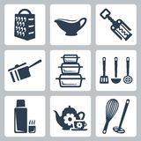 Vector kitchenware icons set Stock Photo