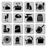 Vector kitchenware icons Royalty Free Stock Images
