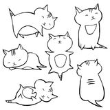 Vector kittens set. Cute vector kittens - hand-drawn set Royalty Free Stock Photos