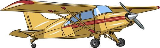Vector klein sportenvliegtuig royalty-vrije stock foto's