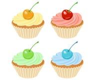 Vector kleine Kuchen Lizenzfreie Stockfotos