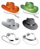 Vector kleurenhoeden voor mensen Royalty-vrije Stock Afbeelding