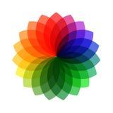 Vector kleurenwiel. Royalty-vrije Stock Foto's