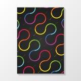 Vector kleurrijk brochuremalplaatje Modern ontwerp Stock Foto