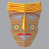 Vector kleurrijk etnisch Afrikaans masker Royalty-vrije Stock Afbeelding