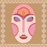 Vector kleurrijk etnisch Afrikaans masker Stock Afbeelding