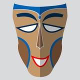 Vector kleurrijk etnisch Afrikaans masker Stock Afbeeldingen