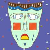 Vector kleurrijk etnisch Afrikaans masker Royalty-vrije Stock Fotografie