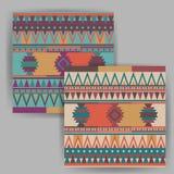 Vector Kleurrijk Indisch Naadloos Patroon Stock Afbeeldingen