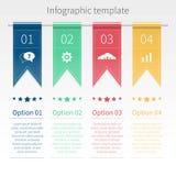 Vector kleurrijk infographic malplaatje met linten royalty-vrije illustratie
