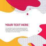 Vector kleurrijk plons abstract ontwerp als achtergrond royalty-vrije stock afbeelding