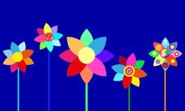 Vector kleurrijke bloemen Stock Fotografie