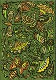 Vector kleurrijke bloemenachtergrond Royalty-vrije Stock Afbeeldingen