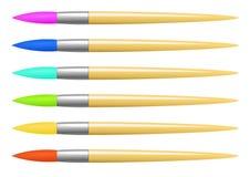 Vector kleurrijke borstelreeks Royalty-vrije Stock Afbeelding