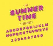 Vector kleurrijke doopvont moderne typografie 3d alfabet zonder serif stijl wordt geheld die Stock Afbeeldingen