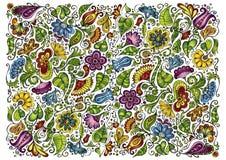 Vector kleurrijke fantasie bloemenachtergrond Royalty-vrije Stock Afbeeldingen