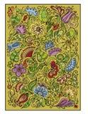 Vector kleurrijke fantasie bloemenachtergrond Royalty-vrije Stock Foto's