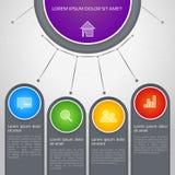 Vector kleurrijke grafische informatie Stock Foto