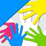 Vector Kleurrijke Handen Stock Fotografie