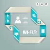 Vector kleurrijke infographic voor bedrijfspresentaties Kan voor rapport, presentatie, banner, websiteboekje of brochure worden g Royalty-vrije Stock Afbeelding