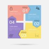 Vector kleurrijke informatiegrafiek voor uw bedrijfspresentaties Royalty-vrije Stock Afbeelding