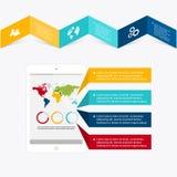 Vector kleurrijke informatiegrafiek voor uw bedrijfspresentaties Stock Afbeeldingen