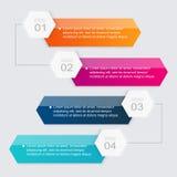 Vector kleurrijke informatiegrafiek voor uw bedrijfspresentaties Stock Foto's