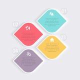 Vector kleurrijke informatiegrafiek voor uw bedrijfspresentaties Royalty-vrije Stock Foto's