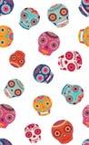 Vector kleurrijke naadloze het patroonachtergrond van suikerschedels royalty-vrije illustratie