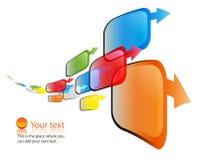Vector kleurrijke pijlenmotie Stock Fotografie
