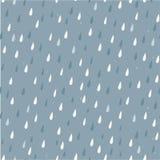 Vector kleurrijke regendalingen op grijs naadloos patroon royalty-vrije stock fotografie