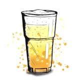 Vector kleurrijke schets van bierkop Royalty-vrije Stock Afbeeldingen