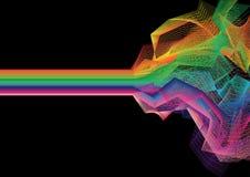 Vector kleurrijke streepachtergrond Stock Foto