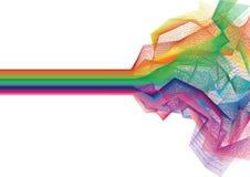 Vector kleurrijke streepachtergrond - vector Stock Fotografie