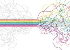 Vector kleurrijke streepachtergrond - vector Royalty-vrije Stock Foto's