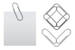Vector kleverige nota met paperclip Royalty-vrije Stock Foto