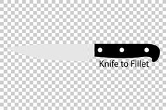 Knife to Fillet, at Transparent Effect Background. Vector Knife to Fillet, at Transparent Effect Background Royalty Free Stock Images