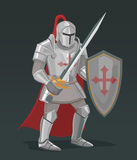 Vector knight with sword and shield Royalty Free Stock Photography