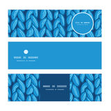 Vector knit sewater fabric horizontal texture Royalty Free Stock Image