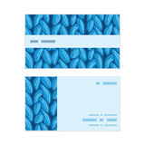 Vector knit sewater fabric horizontal texture Royalty Free Stock Photography