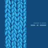 Vector knit sewater fabric horizontal texture Stock Photography