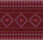 Vector knitted aztec seamless background. Royalty Free Stock Image