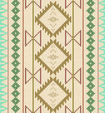Vector knitted background.Aztec seamless pattern. Stock Photography