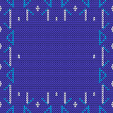 Vector knitted background in blue and white colors. Royalty Free Stock Images